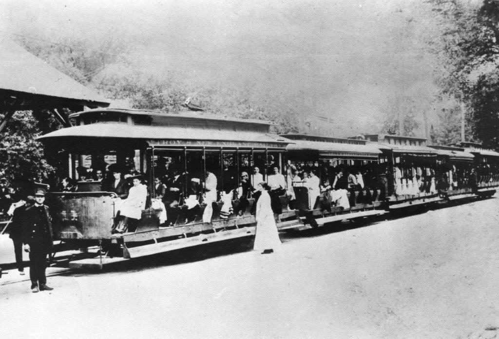 Trolley at Averill Park Station - Sand Lake, near 1908 Teal Pond Murder of Hazel Drew