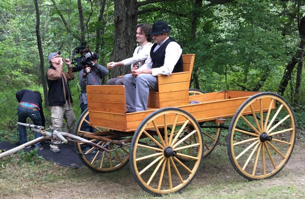 Shooting Period Reenactment - John Holser Productions -Wagon