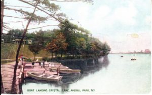 Crystal Lake 1910 - Recreation Spot in Sand Lake NY. Near Hazel Drew Murder
