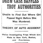 Hazel Drew Murder Case Baffles Troy Authorities